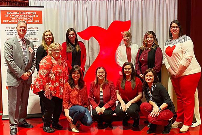 WPS supports cardiovascular research at Go Red